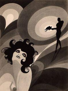 """John Vassos, Illustration for Oscar Wilde's """"Salome"""". 192"""