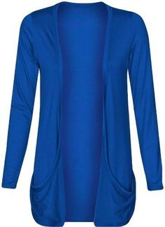 c721164256969 Womens Drop Pocket Boyfriend Open Cardigan Top Ladies Big Plus Size  Cardigans UK 16 18 20 22 24 26: Amazon.co.uk: Clothing