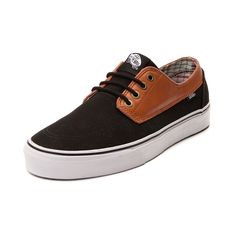Shop for Vans Brigata Skate Shoe in Black Leather at Journeys Shoes. Shop today for the hottest brands in mens shoes and womens shoes at Journeys.com.Rock the boat with the new nautically inspired Brigata Skate Sneaker from Vans! The Brigata sports a canvas and leather upper with lace closure for a secure fit, moc-toe stitch details, and vulcanized rubber sole with signature waffle tread for grip and traction. Available for shipment in February; Pre-order yours today!