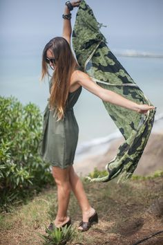 Looks 2013 por Maud Gurunlian #Outfits #FashionBlogger #JockeyPlaza #Militar #Green #Dress