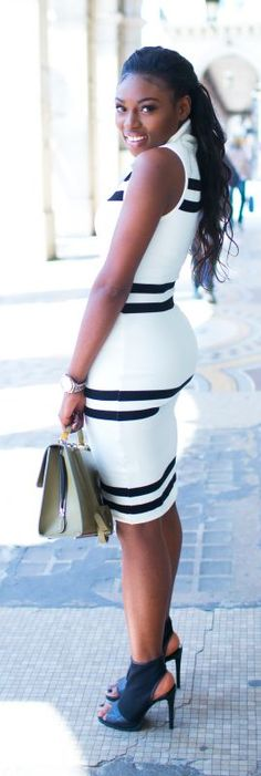 Striped Dress Chic Style