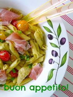 Duni's Studio: Antipasti Penne Salad - Quick and healthy salads