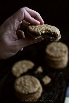 Crunchy Oat Cookies With Luscious Salted Dark Chocolate Filling