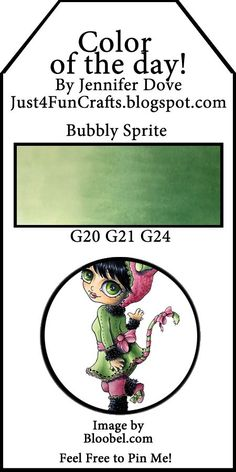 Copic Color of the Day - 227 - Bubbly Sprite Copic Marker Art, Copic Pens, Copic Sketch Markers, Copics, Copic Color Chart, Copic Colors, Noir Color, Copic Markers Tutorial, Spectrum Noir Markers