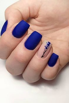 black nails design ideas 2019 acrylic, coffin, polish, matte and manicur methods – page 9 Related Black Nail Designs, Gel Nail Designs, Nails Design, Blue Nails, My Nails, Nail Art Blue, Cute Spring Nails, Natural Gel Nails, Instagram Nails