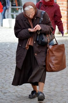 Old Woman in Old Town Poland