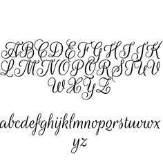 Hand lettering alphabet font typography