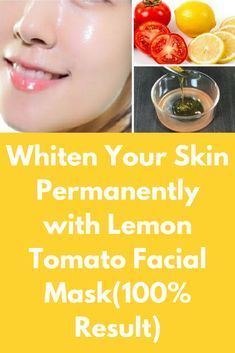 Whiten Your Skin with Lemon Tomato Facial Mask In this article I will share a Permanent Skin Whitening Facial Mask with Lemon Tomato. This Facial Mask works Magically and get Fair Skin, Glowing Skin, Spotless Skin. This facial will make your skin fairer a Tomato For Skin, Tomato Mask, Lemon Face Mask, Lemon On Face, Lemon Honey Mask, Honey Facial, Beauty Tips For Skin, Skin Tips, Skin Glow Tips