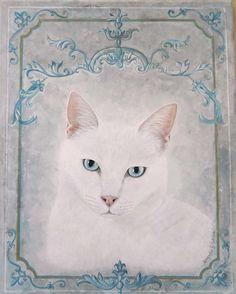 Ho fatto il ritratto del bellissimo gatto del Romeow Cat Bistrot di Roma: Maos