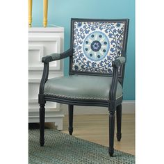 Suzani  Arm Chair - love it, though I would prefer natural wood, fabric seat and warmer colors :)