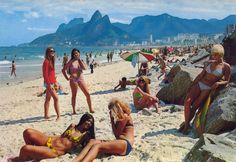 Rio De Janeiro, 1960s vintage postcard | ''Girls from Ipanema'' | #Brazil #Brazilian #SouthAmerica #beachscene #plaj #Brezilya