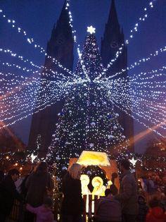 namesti miru christmas market 2012, Prague Czech Republic