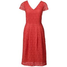 Lands' End Women's Cap Sleeve Lace Sheath Dress ($60) ❤ liked on Polyvore featuring dresses, orange, red cocktail dress, orange cocktail dress, red lace dress, evening cocktail dresses and red holiday cocktail dress