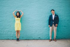 Engagement session in DUMBO with NYC wedding photographer Ben Lau.