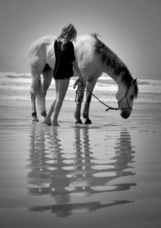 It's as if someone managed to take a picture of the beautiful dream I have always  had to ride a beautiful horse across a beach :)
