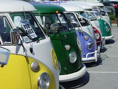 I would LOVE to have a VW Bus!!  We would seriously rock a show in one of these bad boys!!