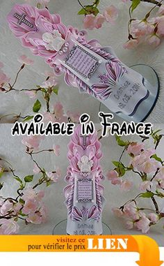 Bougie Baptême Communion Bougie sculpté fille ange gardien ange bougie pour le baptême parrain Bougie baptême couplet rose blanc argenté nom et la date NEW unique.  #Guild Product #GUILD_BABY