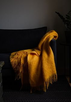 Warm wool blankets made of pure new wool and shiny, silky mohair. Lush colours and Scandinavian design give a final touch to your home. Mohair Blanket, Mohair Throw, Scandinavian Design, Plush, Pure Products, Cool Stuff, Design Shop, Shawls, Blankets