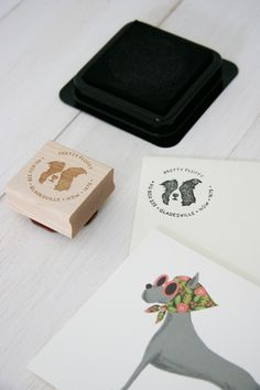 Get your business logo & address on a bespoke stamp - by Lush Prints