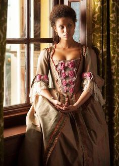 fuckyeahcostumedramas:  Gugu Mbatha-Raw in 'Belle' (2014).