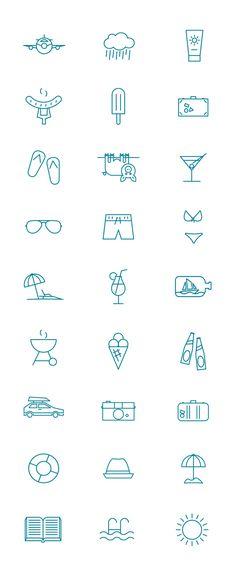 Summer pictogram on Behance
