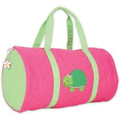 Turtle Quilted Duffle Bag by Stephen Joseph  Paper and Polka Dots