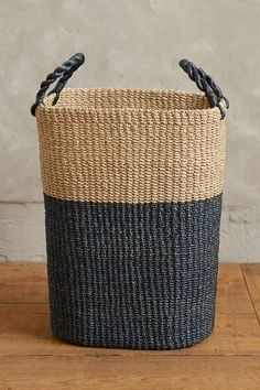 Dipped Abaca Basket - anthropologie.com