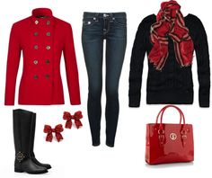 """""""Christmas Outfit"""" by honeybee20 on Polyvore"""