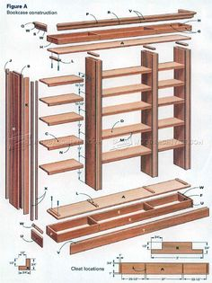 #2064 DIY Bookcase - Furniture Plans