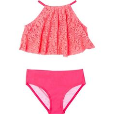 23758eff71 O'Rageous Girls' Gypsy Breeze Crochet 2-Piece Tankini (Pink Bright, Size  6X) - Youth Swim, Girls X Swim at Academy Sports