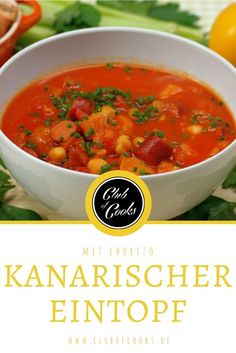 Ein einfacher Eintopf mit Gemüse und Chorizo, perfekt für die kalte Jahreszeit.