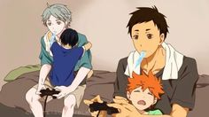 The FEELS. So, this is a Free! X Haikyuu spinoff with Suga and Dachi as Mako and Haru (OTP for lyfe f*** that Rinharu shiz) with a guest apreance from Hinata and Kageyama.
