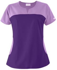 Butter-Soft Scrubs by UA™ Rounded Notch Neck Top   Relaxed styling and feminine…