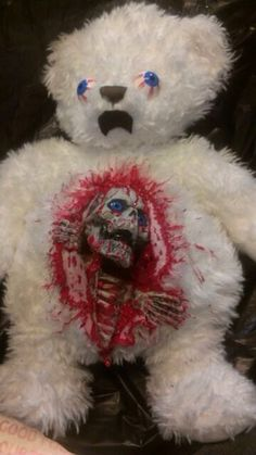 Zombie teddy bear for sale on eBay. Would you like a nice teddy bear for your sweetie for Valentine's Day?