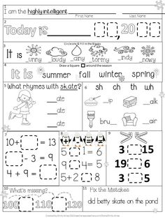 Printables Daily Morning Work 1st Grade freebie first grade providing your students with a meaningful january morning work common core