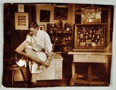 Klee in his Weimar Bauhaus studio, 1924. Photograph: Felix Klee, Zentrum Paul Klee, Bern