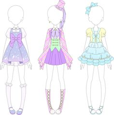 """New coords for my Aikatsu fan brand, Fairy Kei yay~ This set also includes a campaign coord for the dream story """"The Last Unicorn"""". Marine Dreams Coord (Rare) Sports Galaxy Coord (Rare) Twilight Un..."""