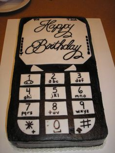Seventeenth Birthday Cake - What do you do for a 17 year old boy? Cell phone or IPod of course. He loved it, it was the perfect cake for my son. After two attempts using icing for the screen & numbers I didn't like the results so I scraped it off and used fondant then used a marker for the words & numbers. That's his actual birthdate & time at the top of the screen.