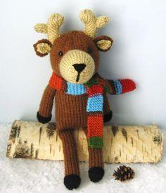 Reindeer Knit Pattern - via @Craftsy