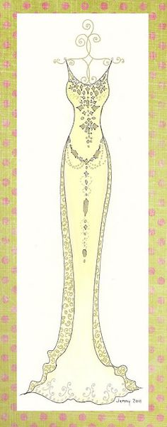 Fashion illustration by Jennelise Rose