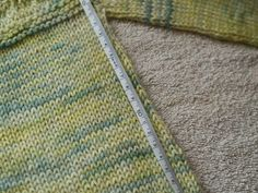 Blocking A Little Sweater.  Four important things about blocking that are totally true.  Myth Buster - if something doesn't need stretching, then it doesn't need blocking.
