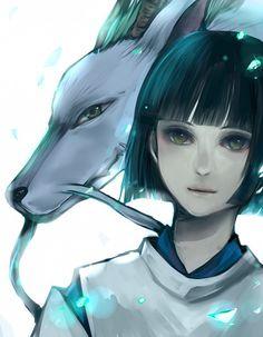 Haku - Spirited Away Studio Ghibli Art, Studio Ghibli Movies, Manga Art, Anime Manga, Anime Art, Sad Anime, Anime Demon, Kawaii Anime, Hayao Miyazaki