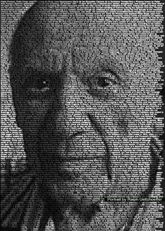 Famous Portraits Built from Thousands of Words - My Modern Metropolis
