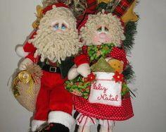 Guirlanda Papai e Mamãe Noel