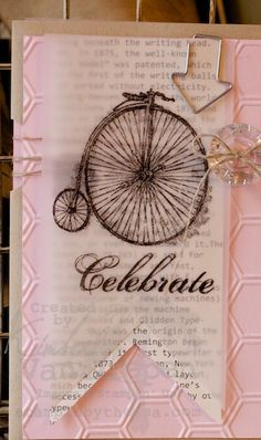 Working with Stampin' Up! Vellum I would do in blue or brown for a guy