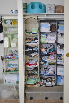 baby closet organization without shelves