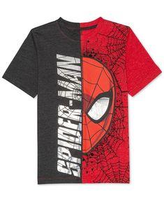 Marvel Big Boys Spider-Man Graphic-Print T-Shirt - Shirts & Tees - Kids - Macy's Boys T Shirts, Cool Shirts, Tee Shirts, Custom Polos, Spiderman Shirt, Disney Boys, Joko, Big Boys, Boy Outfits