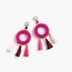 J.Crew Womens Stone And Tassel Earrings