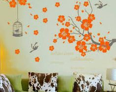 flower on the wall kids room - Google Search