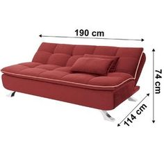 Sofá cama Mayara Linoforte 909 Vermelho Sofa Bed, Couch, Luxury Sofa, Chairs, Furniture, Home Decor, Sleeper Couch, Rouge, Blanket